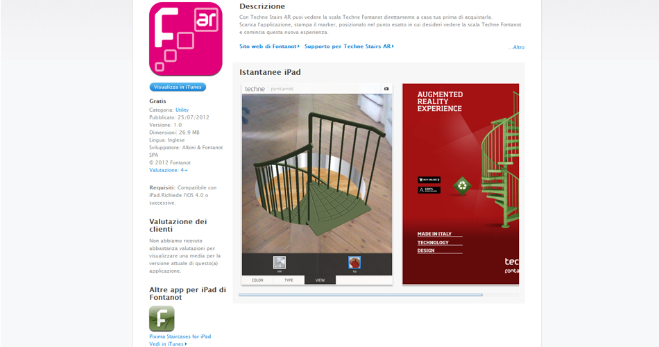 App Techne Stairs Augmented Reality